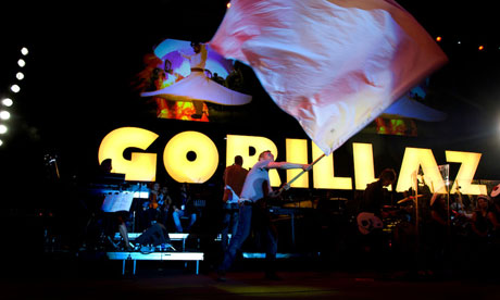 Gorillaz in their midst ... Syria welcomes Damon Albarn's band to Damascus. Photograph: Guardian/John Wreford