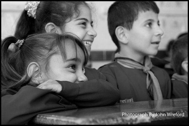 Syrian school children