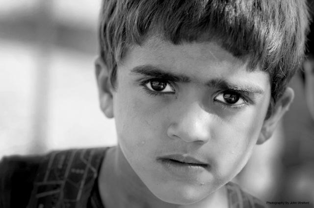 Syrian refugee boy Atmeh camp Idlib Syria